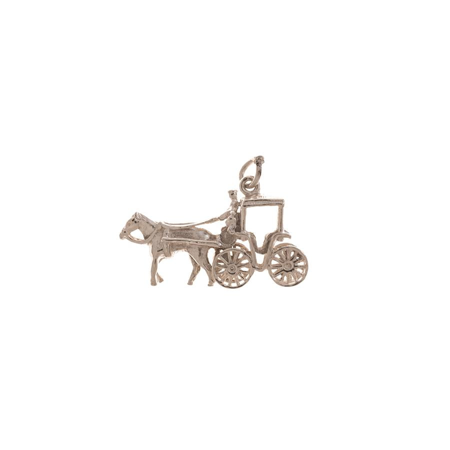 Pre-Owned Silver Horse & Cart Charm