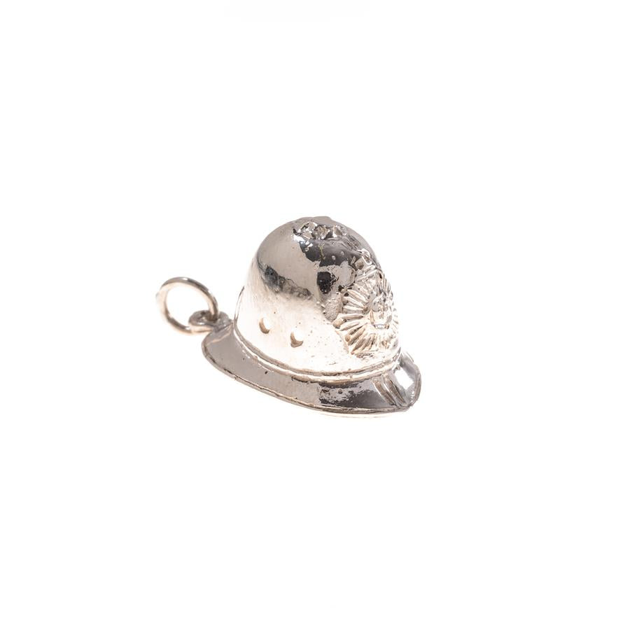 Pre-Owned Silver Police Helmet Charm