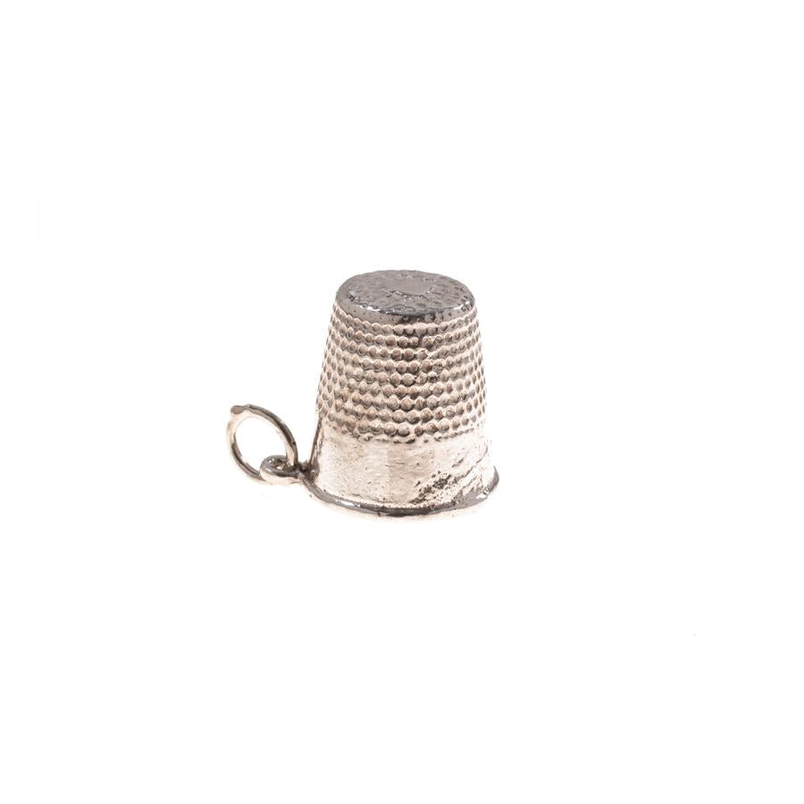 Pre-Owned Silver Thimble Charm