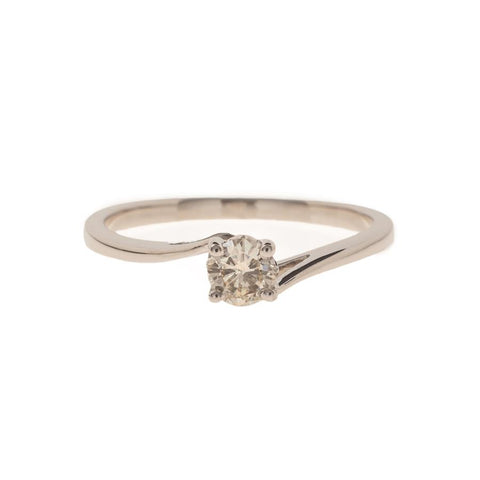 Pre-Owned Platinum Solitaire Diamond Twist Ring