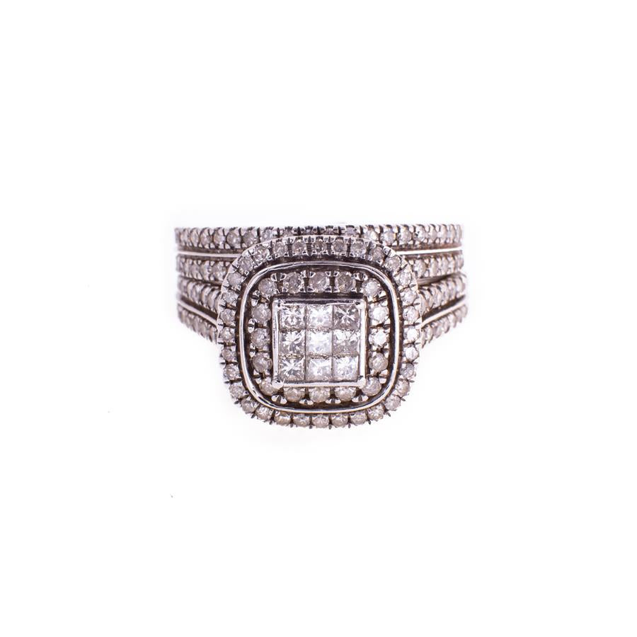 Pre-Owned 18ct White Gold Diamond 2 Piece Ring Set