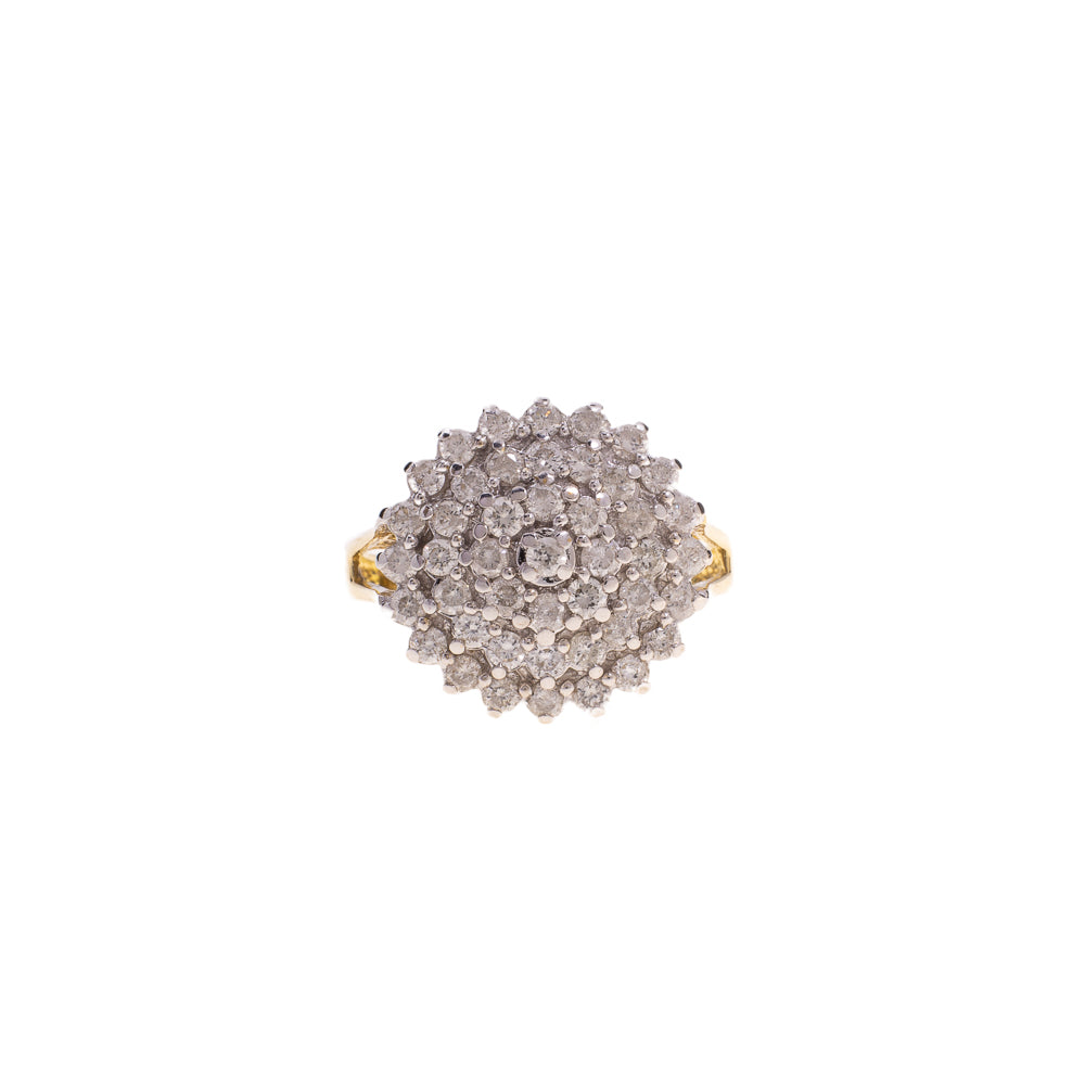 Pre-Owned 18 ct Gold Diamond Cluster Ring
