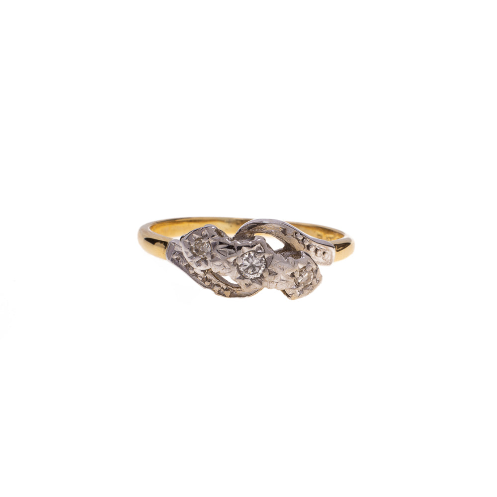 Pre-Owned Illusion Set Twisted Diamond Ring