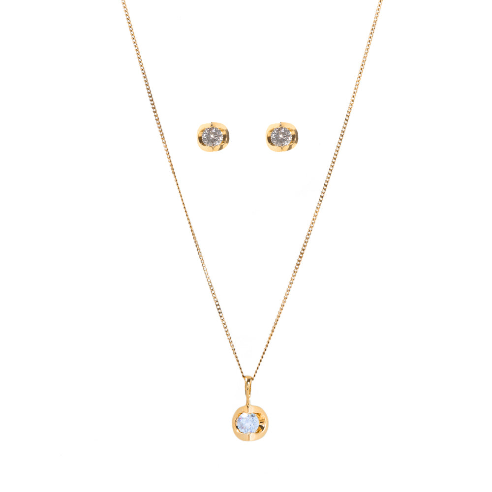 Pre-Owned Diamond Set Pendant, Earrings & Necklace