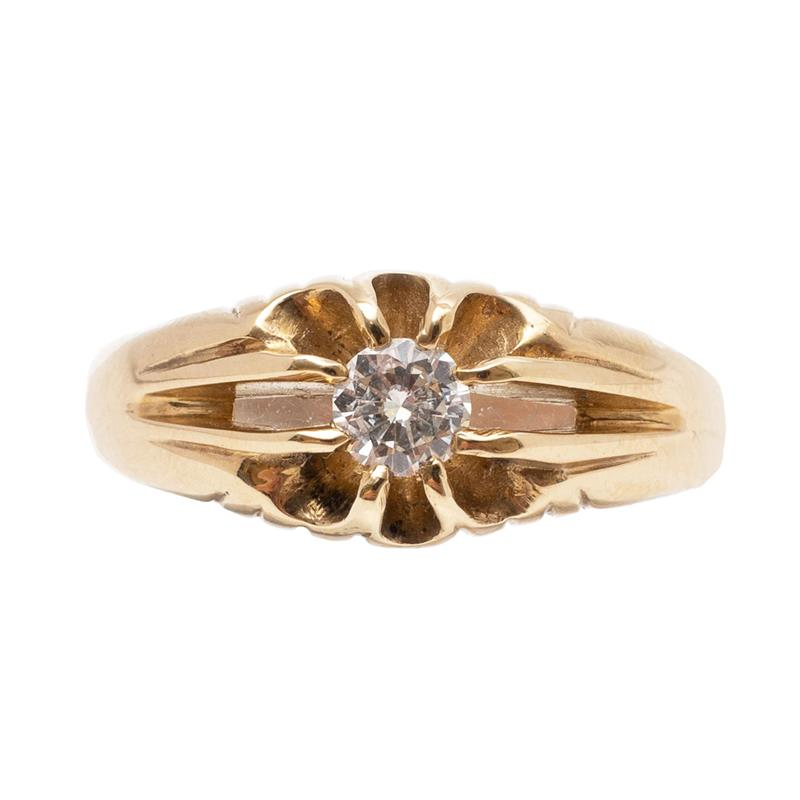 Pre-Owned 9ct Gold Diamond Gypsy Ring
