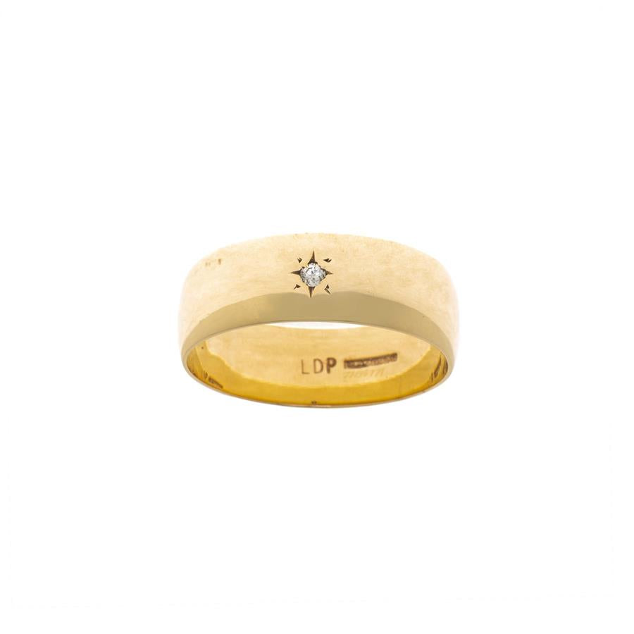 Pre-Owned 9ct Gold Diamond Star Band Ring