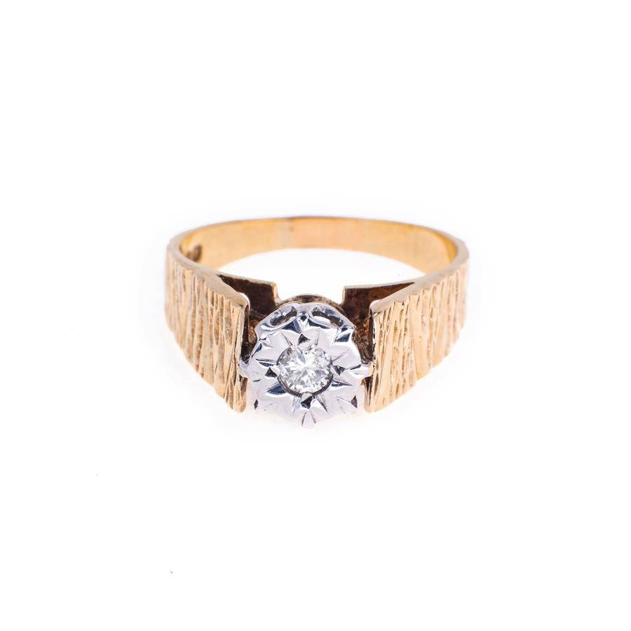 Pre-Owned 9ct Gold Illusion Set Diamond Ring