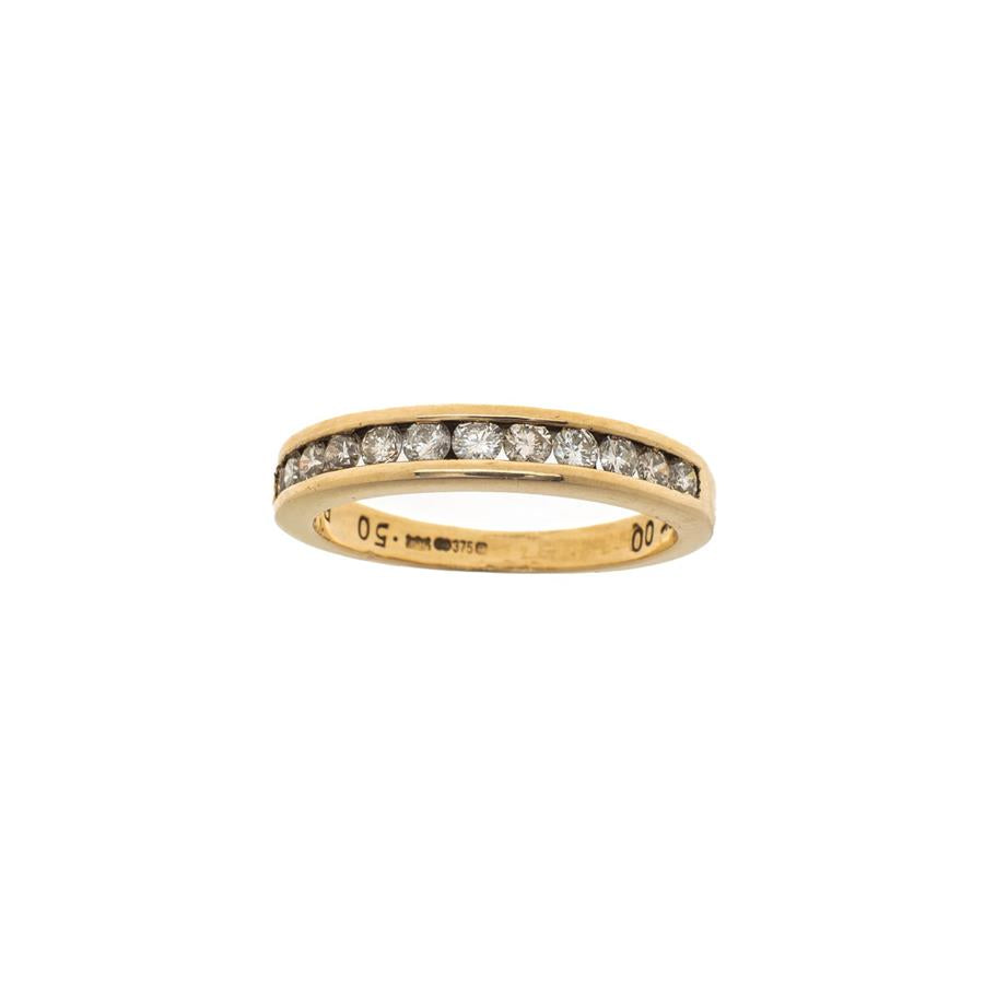 Pre-Owned 9ct Gold 12 Diamond Half Eternity Ring