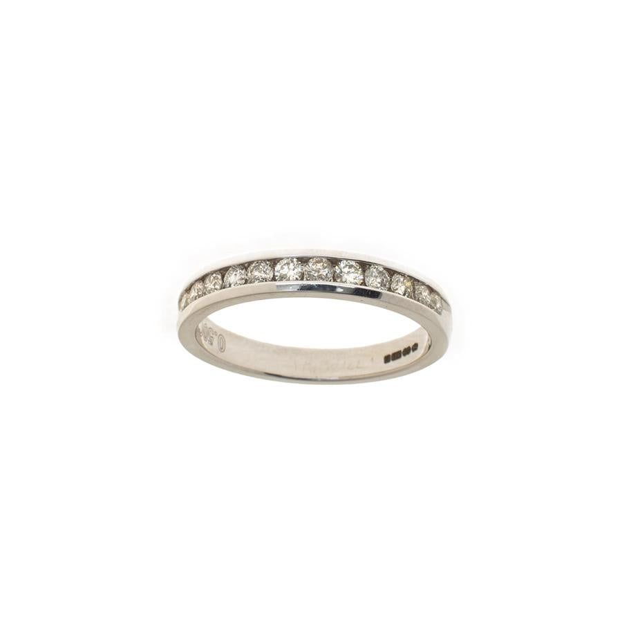 Pre-Owned White Gold 12 Diamond Half Eternity Ring