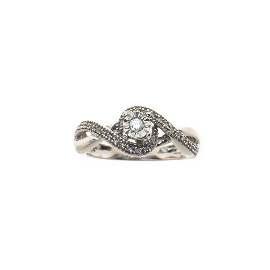 Pre-Owned 9ct White Gold Diamond Infinite Ring