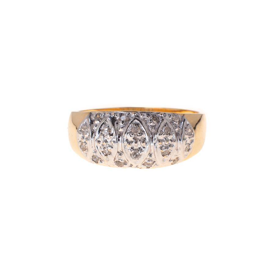 Pre-Owned 9ct Gold Pavé Diamond Dome Ring