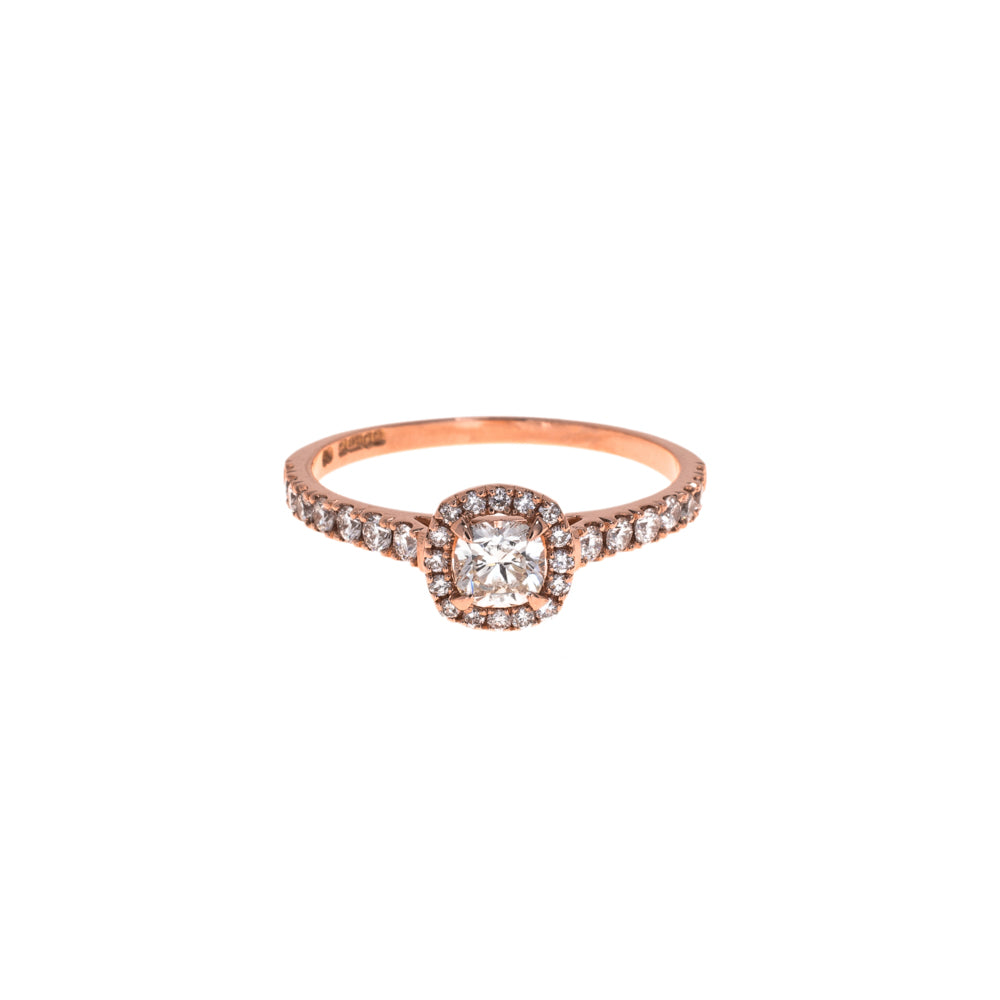 Pre-Owned Rose Gold Dia Shoulders Diamond Ring