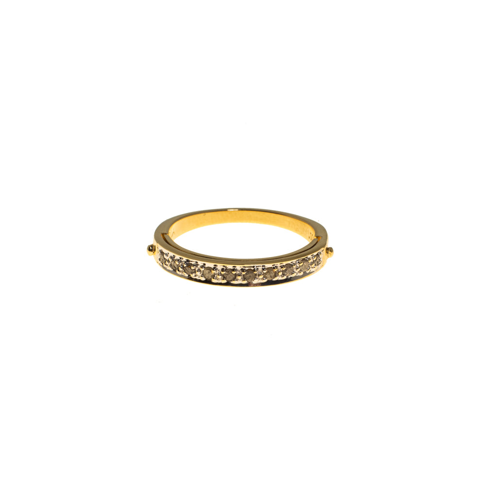 Pre-Owned Gold Diamond 'I Love You' Hinged Ring