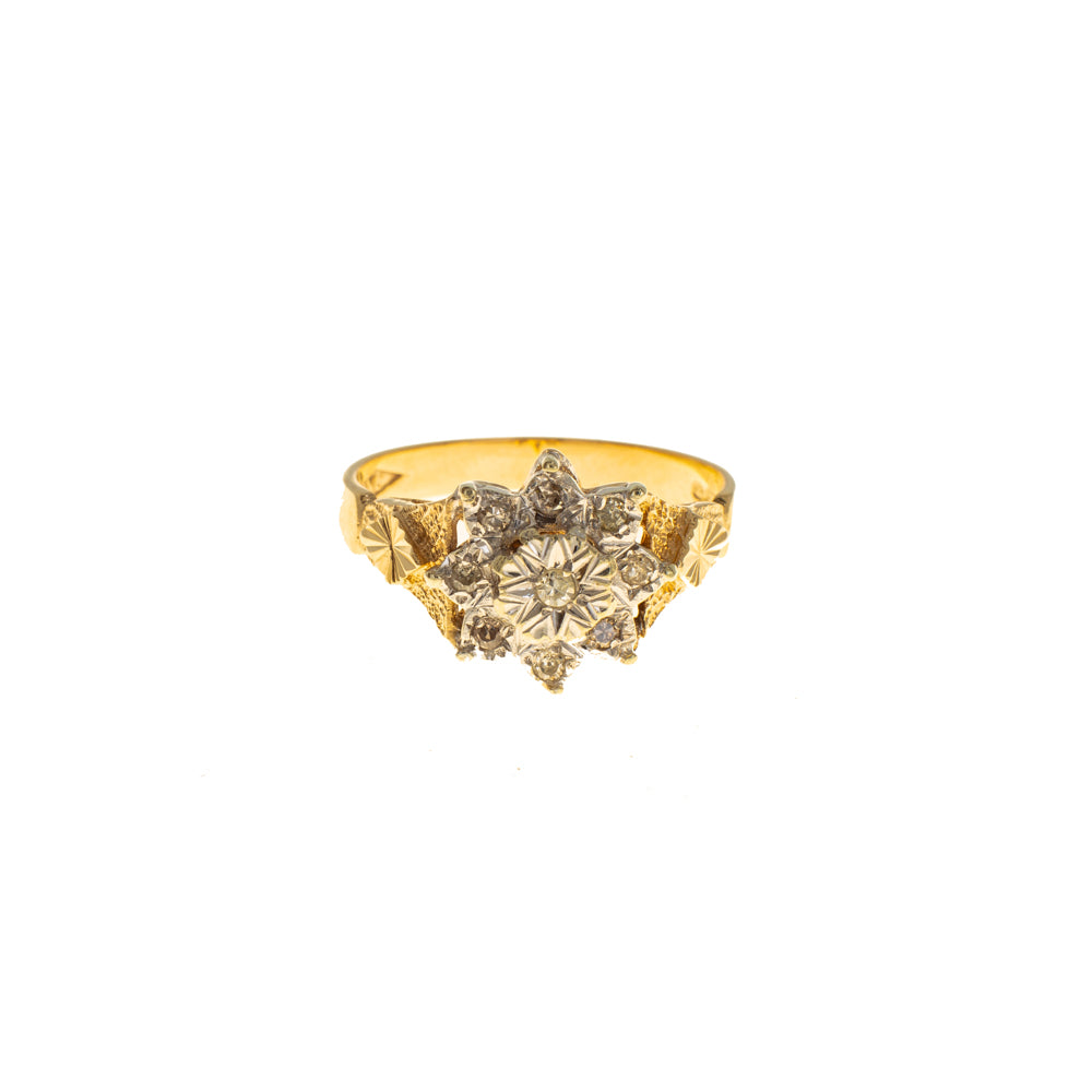 Pre-Owned Gold Diamond Illusion Star Cluster Ring