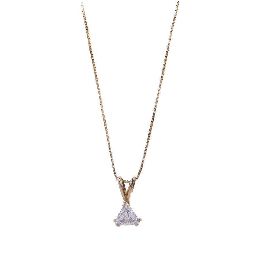 Pre-Owned 18ct Yellow Gold Diamond Pendant Necklace