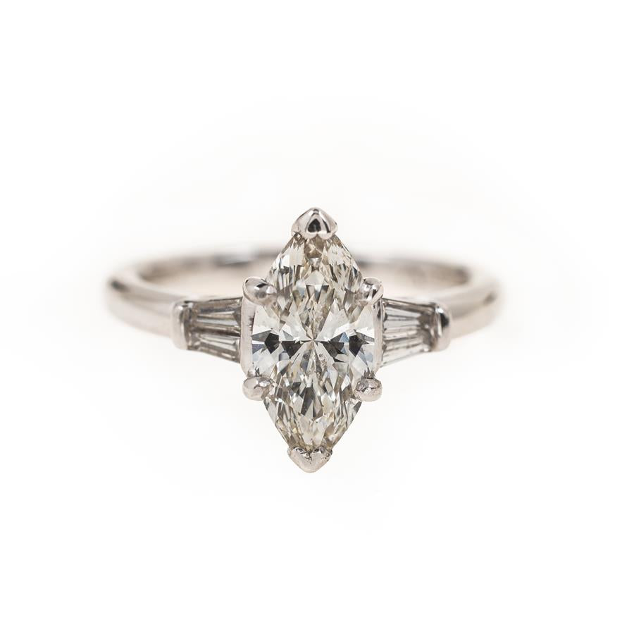 Pre-Owned Platinum Marquise Diamond Ring