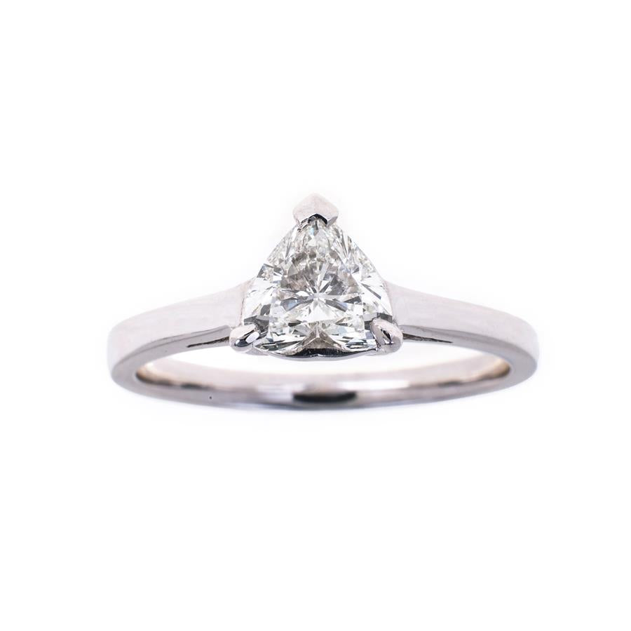 Pre-Owned 18ct White Gold Heart Shape Diamond Ring