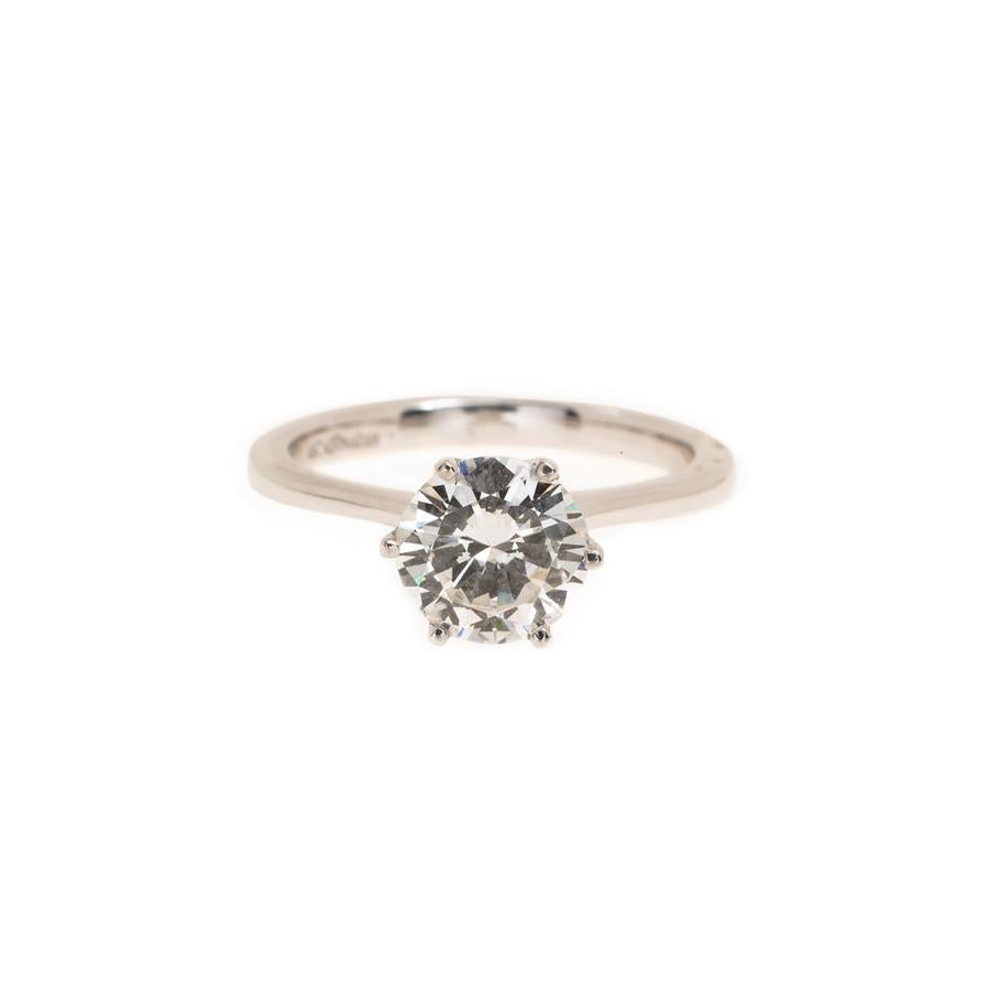 Pre-Owned Platinum Solitaire Diamond Ring