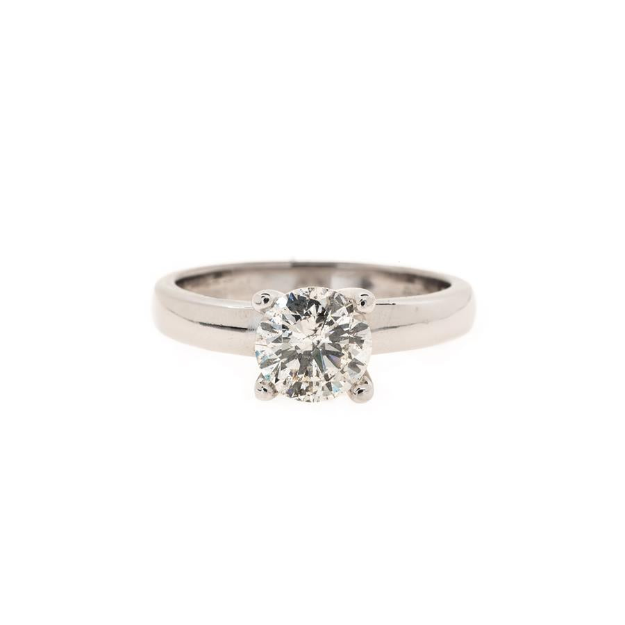Pre-Owned White Gold Round Solitaire Diamond Ring