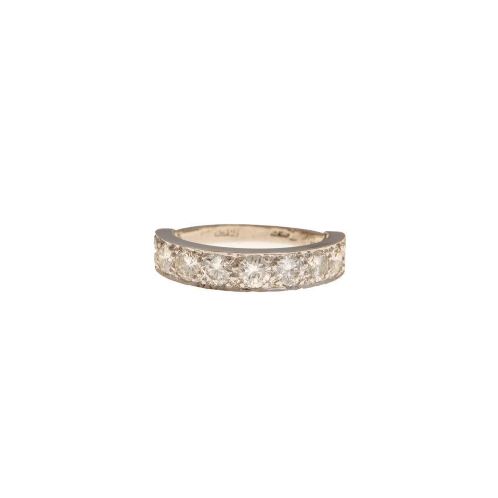 Pre-Owned White Gold 9 Diamond Half Eternity Ring