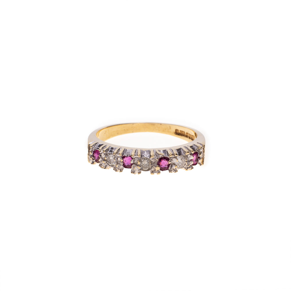 Pre-Owned 9ct Gold Diamond Ruby Ring