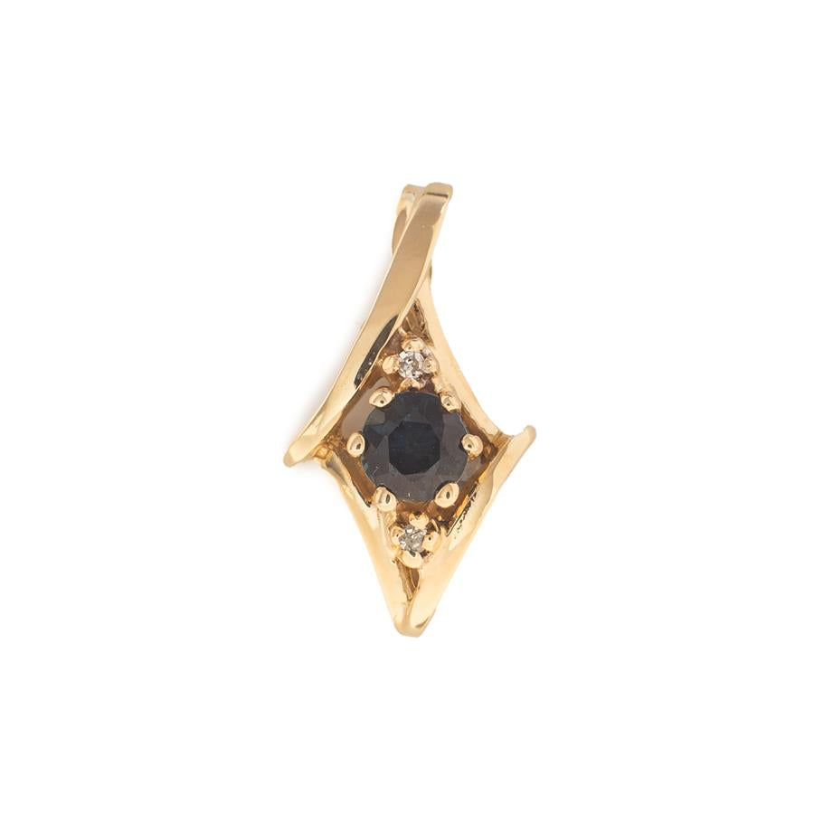 Pre-Owned 9ct Gold Sapphire & Diamond Pendant