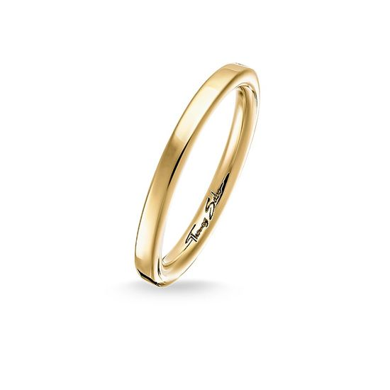 Thomas Sabo Gold Plain Ring TR1979-413-12
