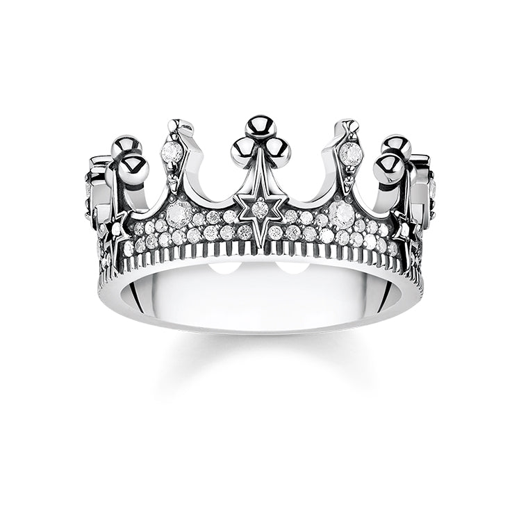 Thomas Sabo Silver Crown Ring TR2224-643-14