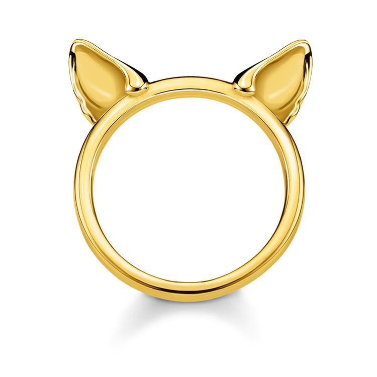 Thomas Sabo Gold Cat Ears Ring TR2260-413-39