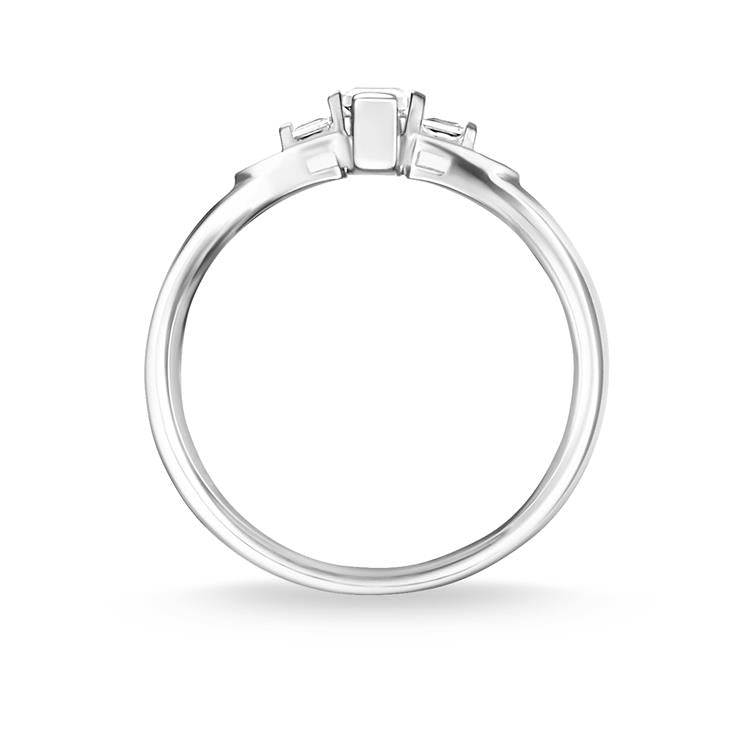 Thomas Sabo Silver 5 Zirconia Ring TR2266-051-14