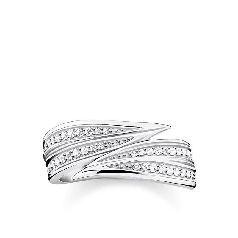 Thomas Sabo Leaves Silver Ring TR2283-051-14