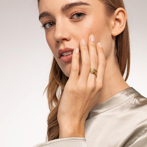 Thomas Sabo Leaves Gold Ring TR2283-414-14