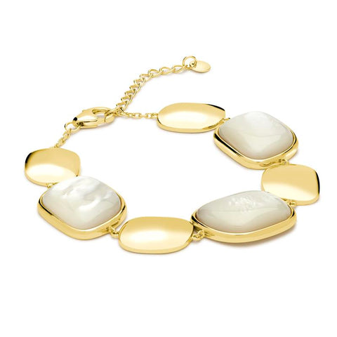Achara Mother of Pearl Pebble Bracelet