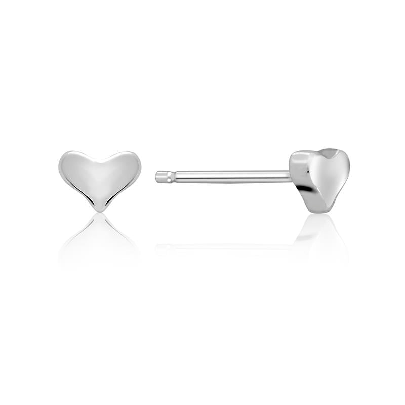 Achara Small Heart Stud Earrings