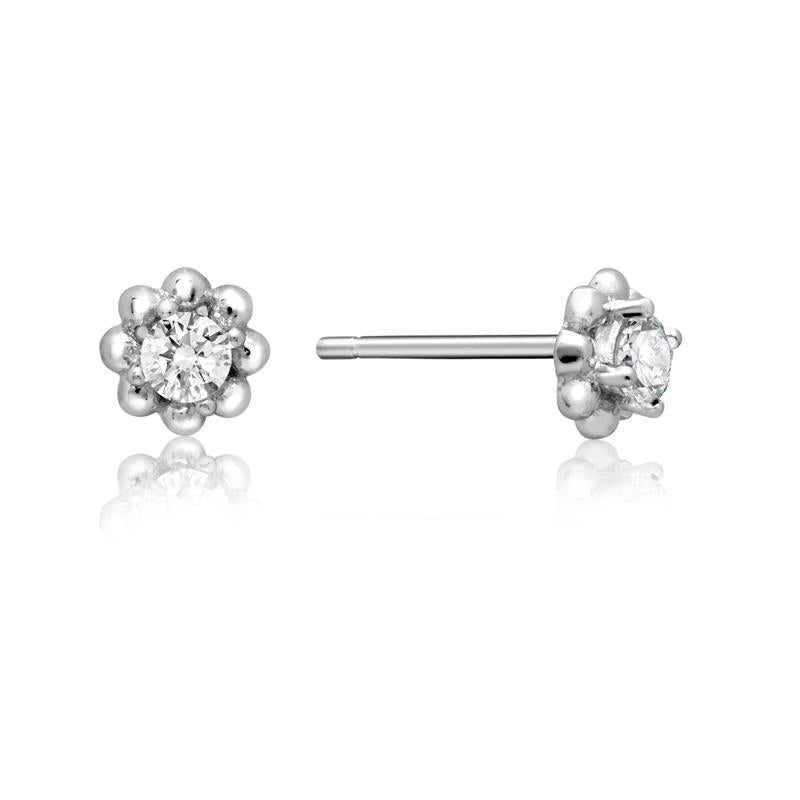 Achara Flower Cubic Zirconia Stud Earrings