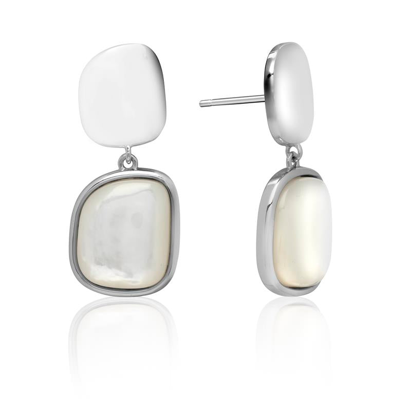 Achara Mother of Pearl Dangle Earrings