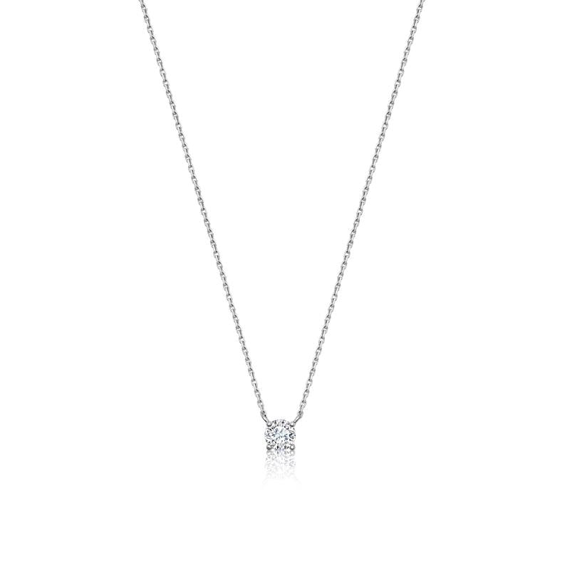 Achara Solitaire Cubic Zirconia Necklace