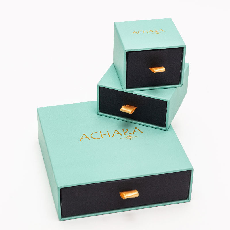 Achara Round Drop Zirconia Huggie Earrings