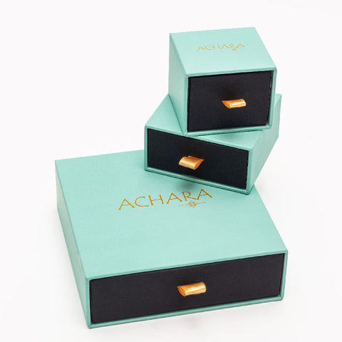 Achara Small Baguette Zirconia Stud Earrings