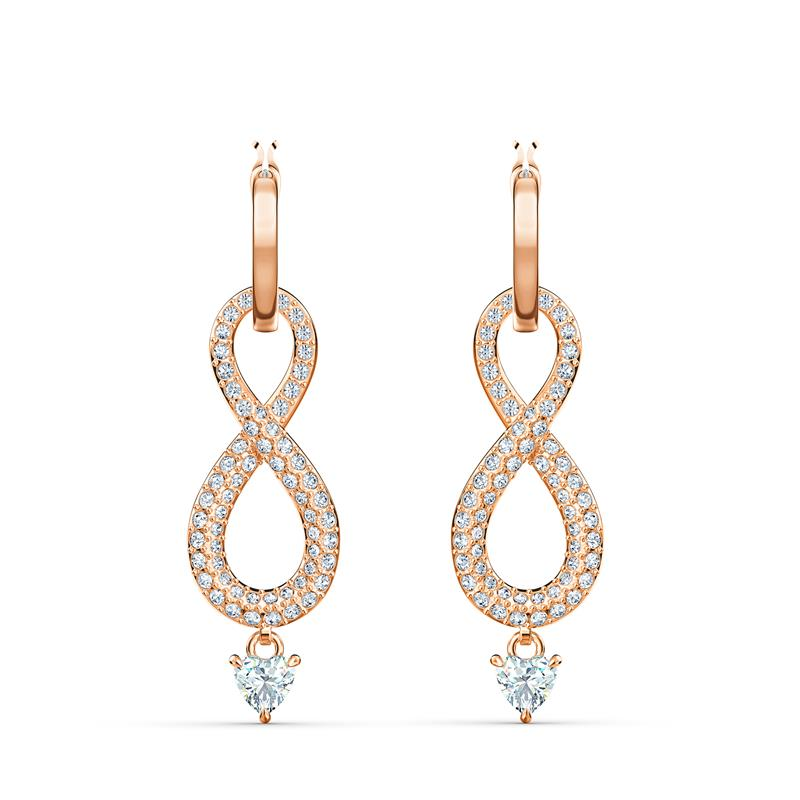Swarovski Infinity Dangle Earrings Rose Gold 5512625
