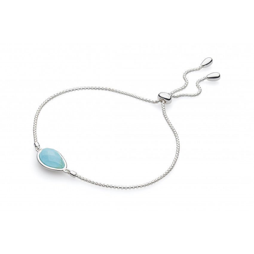Coast Pebble Turquoise silver toggle bracelet