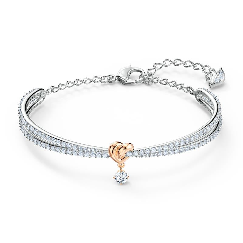 Swarovski Lifelong Heart Knot Bangle Gold 5516544