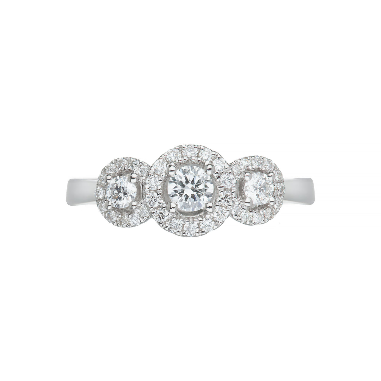 White Gold & Diamond Trilogy Ring