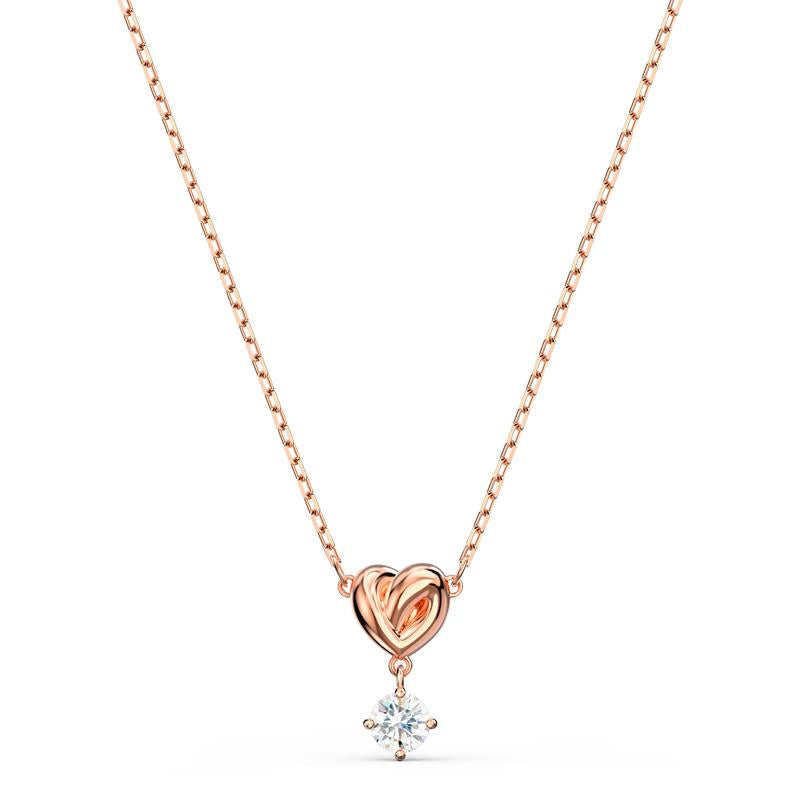 Swarovski Lifelong Heart Pendant Rose Gold 5516542