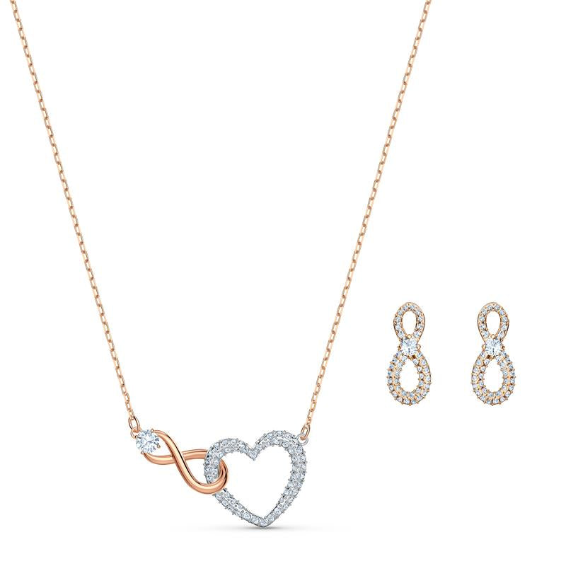 Swarovski Infinity Heart Set Mixed Metal 5521040