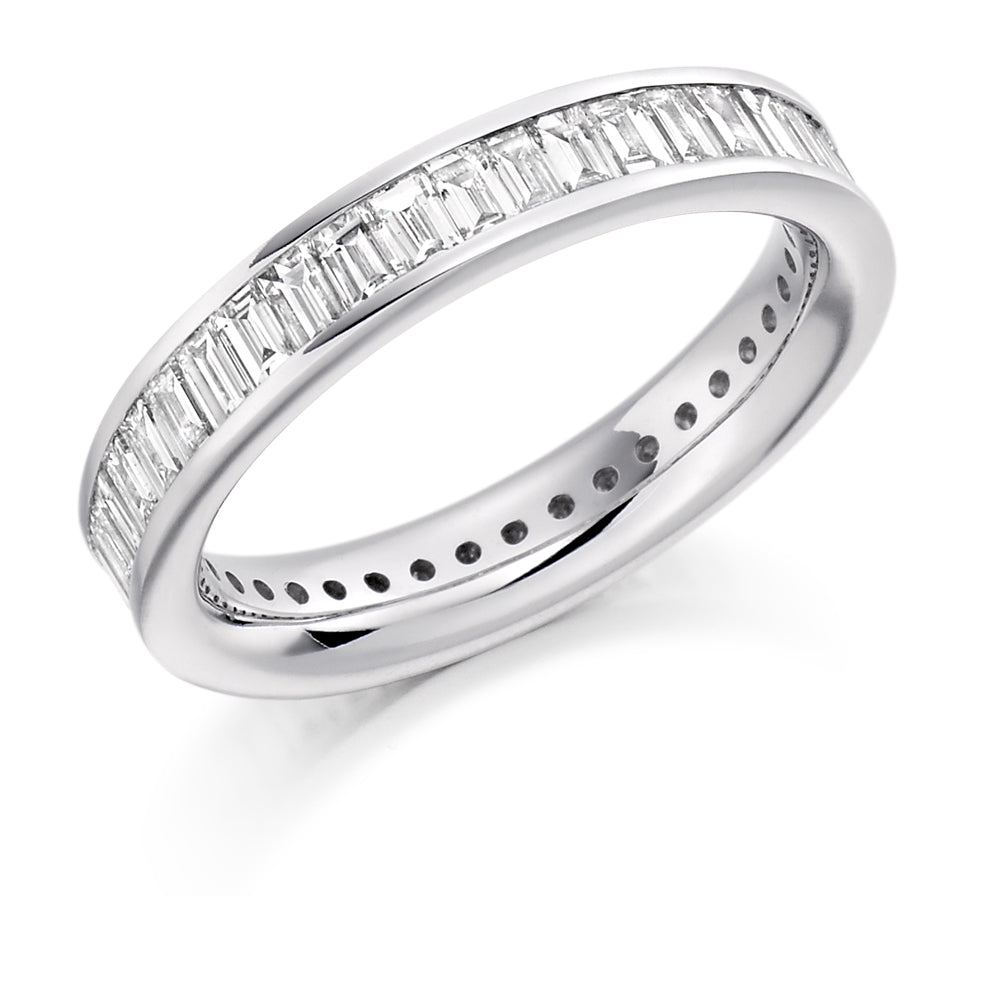 Platinum 2.00ct diamond full set eternity ring (FET1179) SIZE M