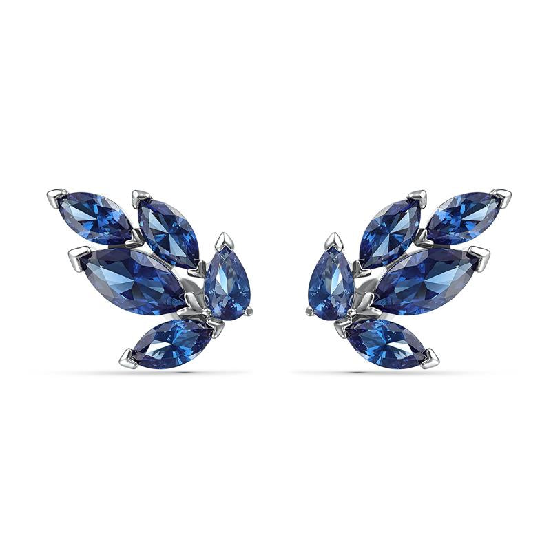 Swarovski Louison Stud Leaf Earrings - Blue 5536549