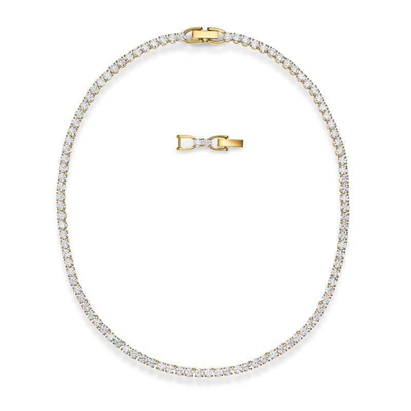Swarovski Tennis Deluxe Necklace Gold 5511545