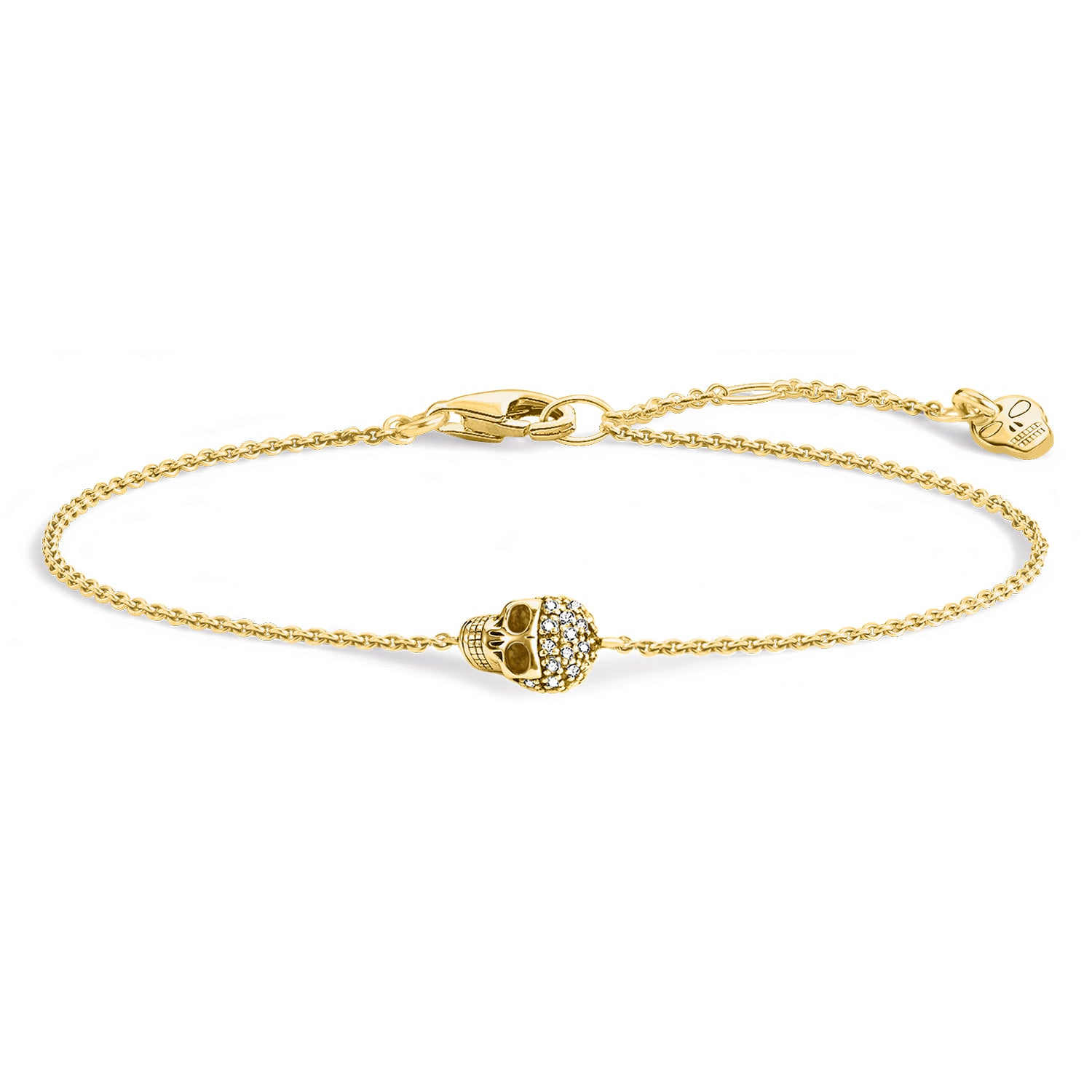 Thomas Sabo Skull Gold Diamond Bracelet A0028-924-39
