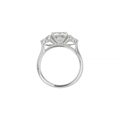 18ct white gold diamond fancy cluster ring
